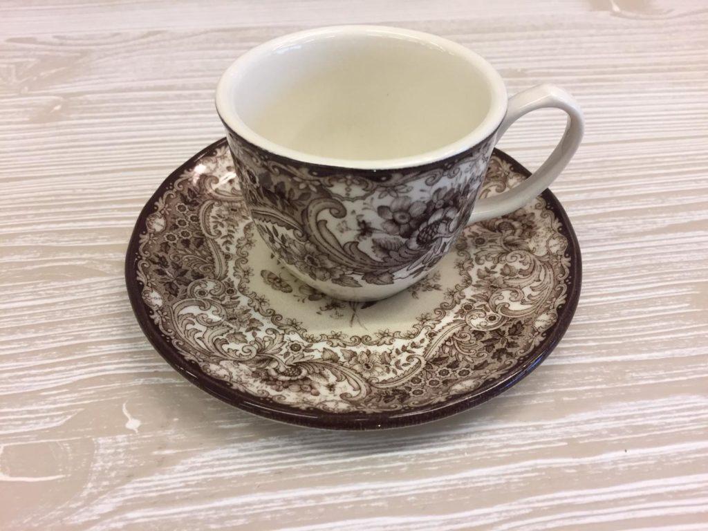 """Set di tazzine da caffè marrone e piattini collezione """"old england"""" 12pz"""