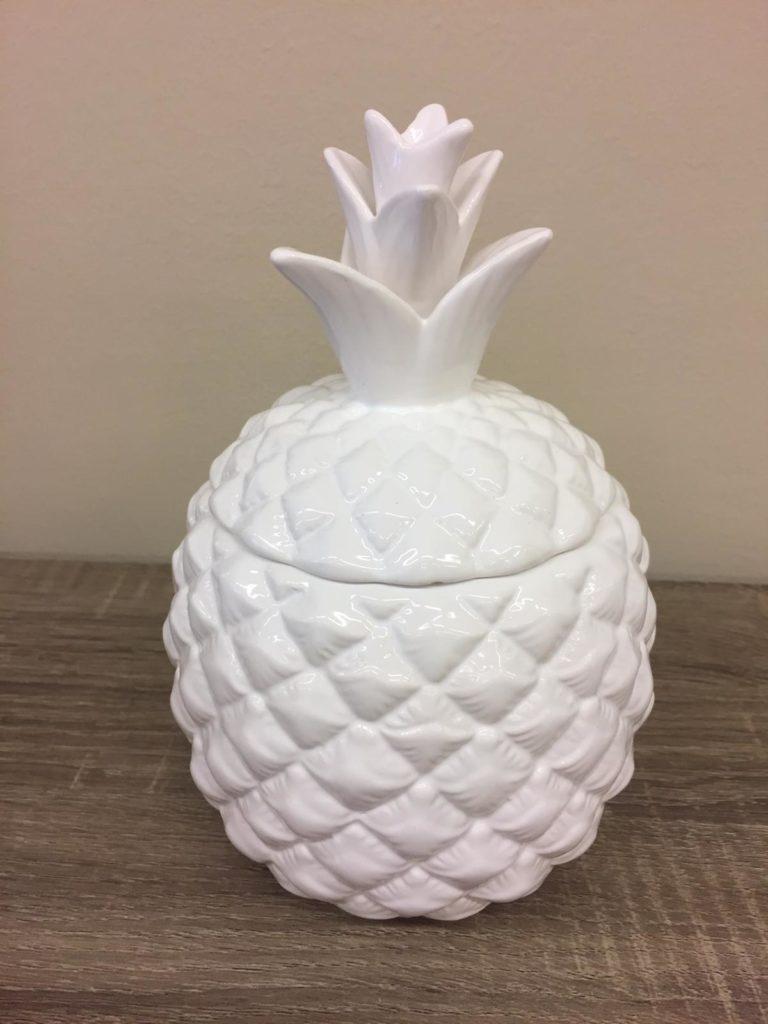 Barattolo portaoggetti a forma di ananas in ceramica